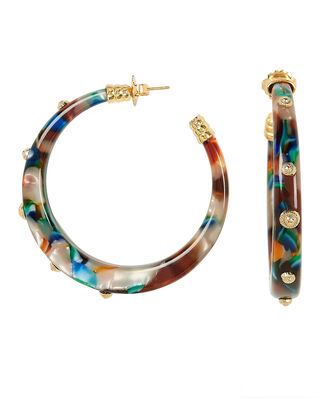 Caftan Hoops, DARK ABSTRACT, hi-res