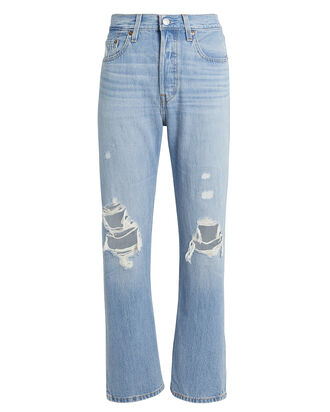 501 Original Cropped Patched Jeans, DENIM-LT, hi-res