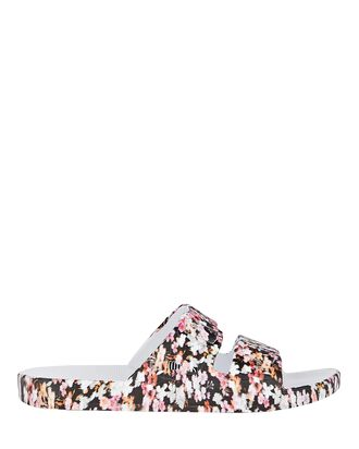 True Romance Moses Two Band Slide, BLACK/PINK, hi-res