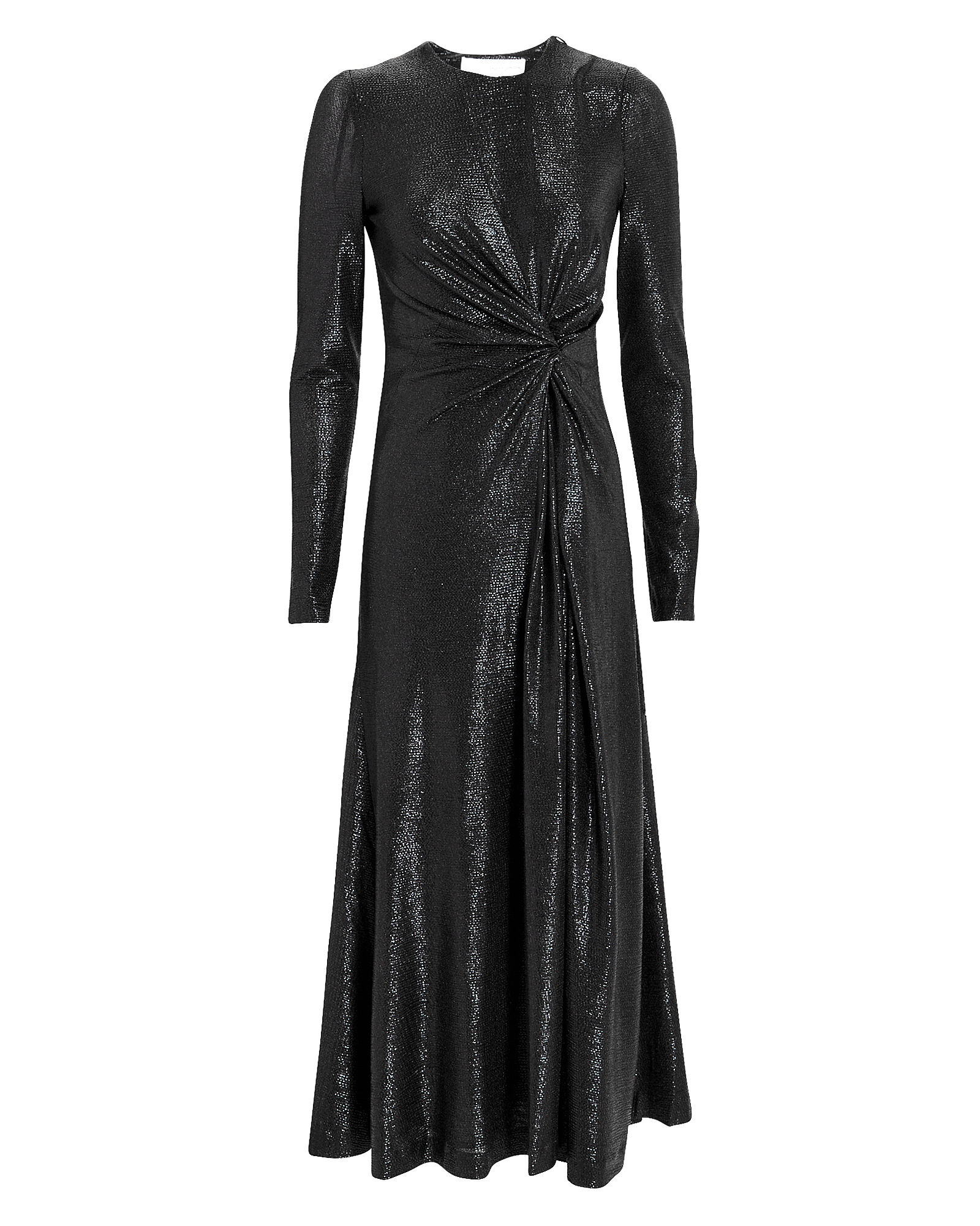 Metallic Pinwheel Dress, BLACK, hi-res