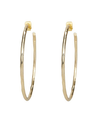 Geometric Hammered Hoops, GOLD, hi-res