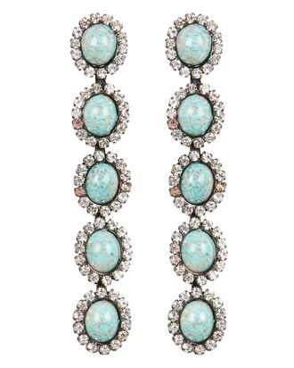 Von Crystal Drop Earrings, SILVER/TURQUOISE, hi-res