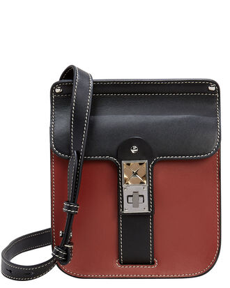 PS11 Crossbody Box Bag, RUST/BLACK, hi-res