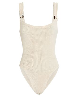 Domino One-Piece Swimsuit, IVORY, hi-res