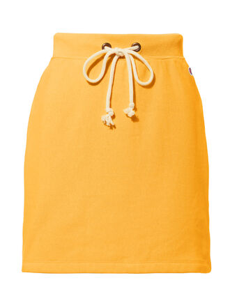 Yellow Mini Sweat Skirt, YELLOW, hi-res