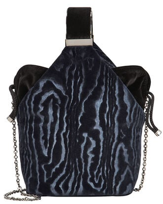 Kit Velvet Bag, NAVY, hi-res