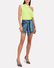 Axel Cotton-Cashmere Cut-Out T-Shirt, NEON YELLOW, hi-res