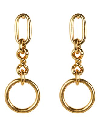 Valeria Chain Drop Earrings, GOLD, hi-res