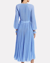 Nemea Crepe Plissé Maxi Dress, LIGHT BLUE, hi-res