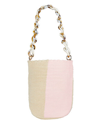 Pastel Midi Bucket Bag, PINK/TAN, hi-res