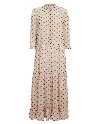 Alexondra Polka Dot Dress, BEIGE, hi-res