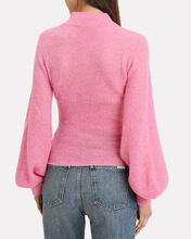 Blouson Sleeve Sweater, PINK, hi-res