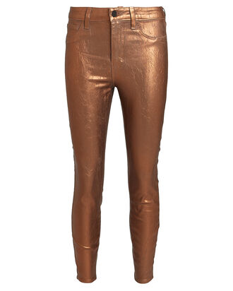 Margot Foiled Skinny Jeans, BROWN, hi-res