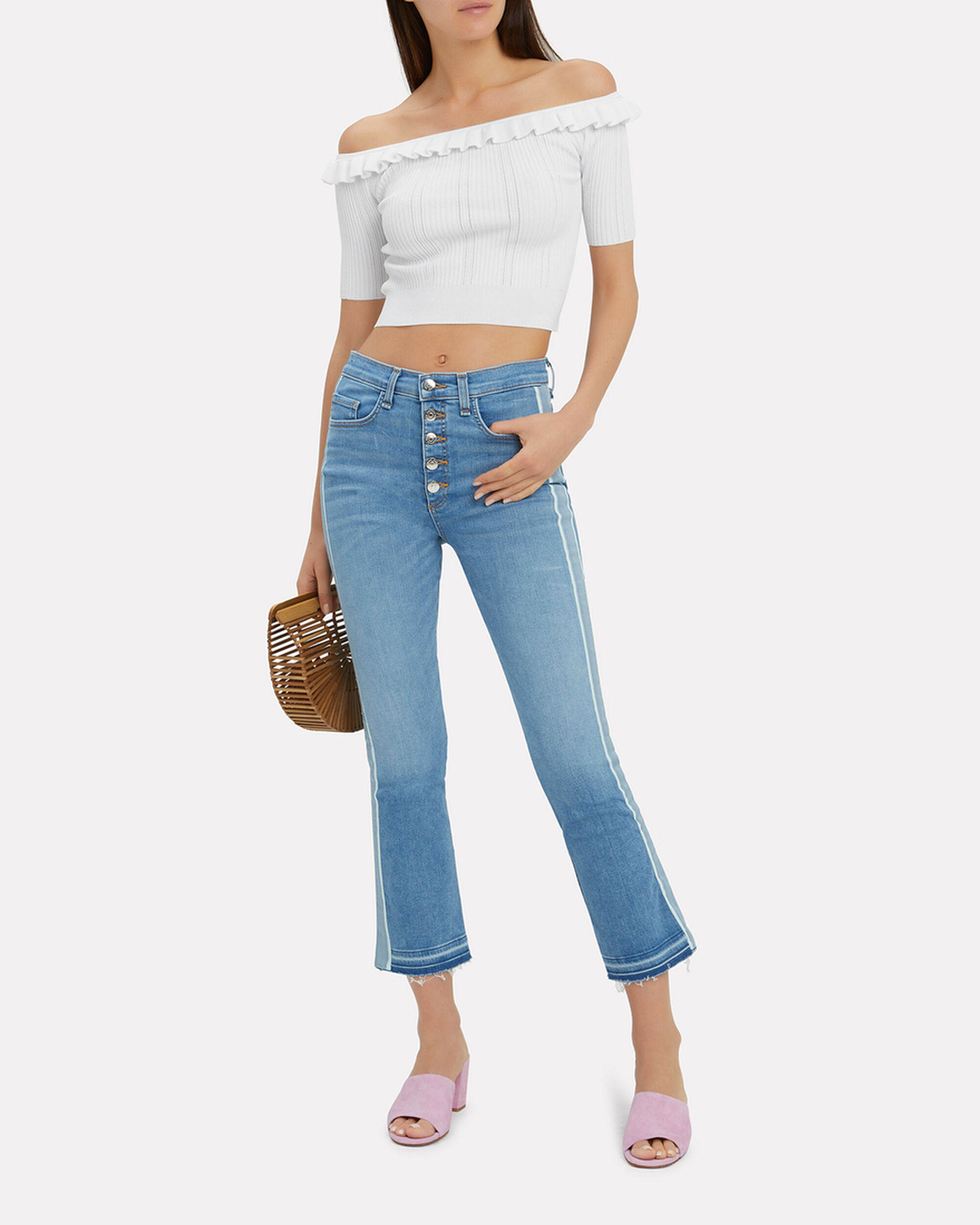 Amalia Crop Top, WHITE, hi-res