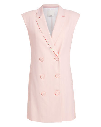 Blazer Dress, PALE PINK, hi-res