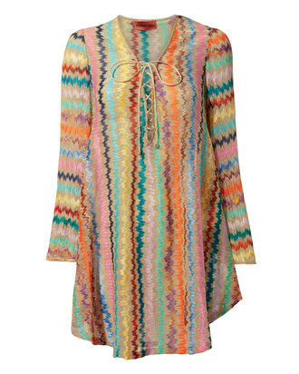 Lamé Striped Caftan, GOLD, hi-res