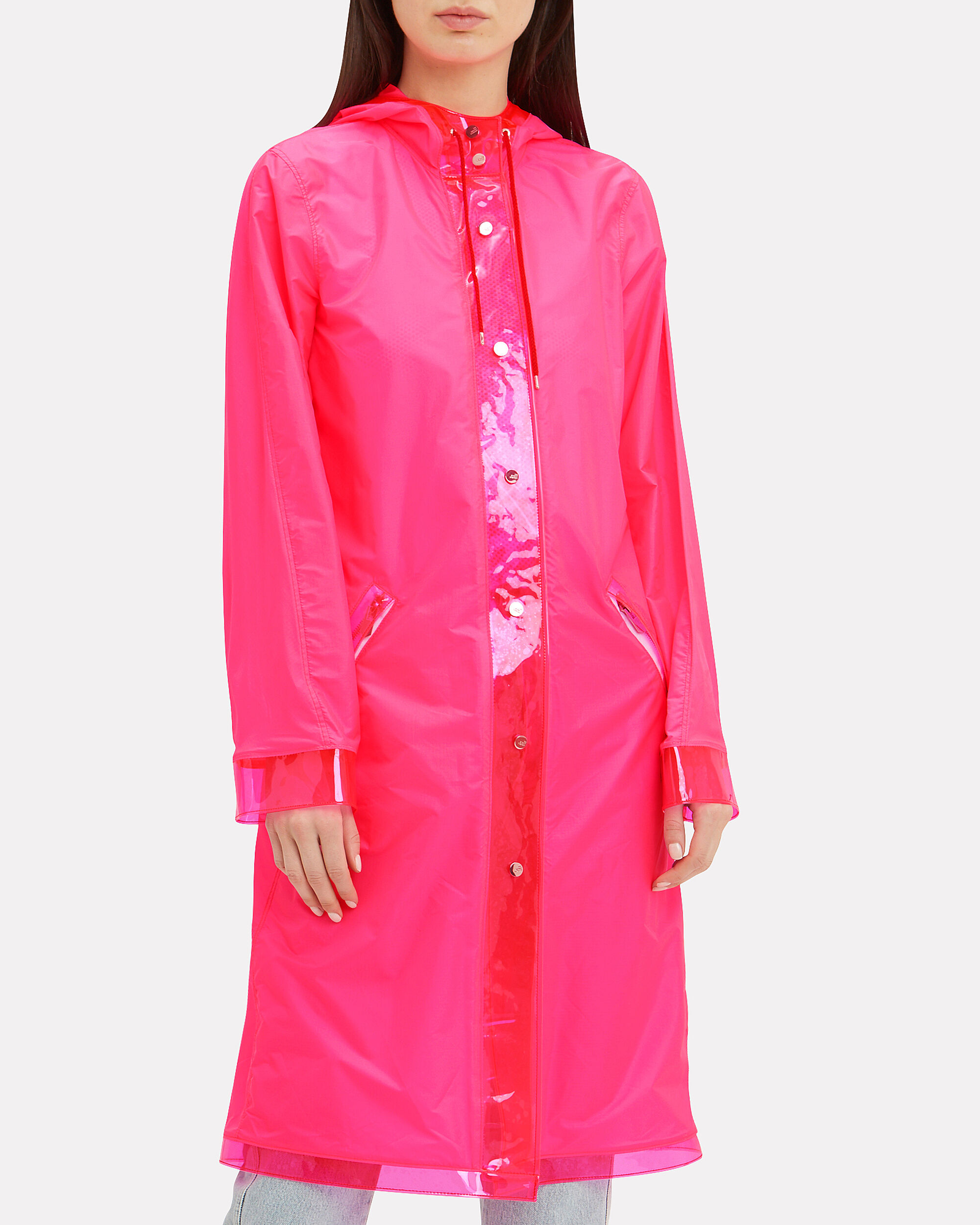 The Seaford Neon Pink Raincoat, NEON PINK, hi-res