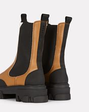 Tall Leather Chelsea Boots, BROWN, hi-res