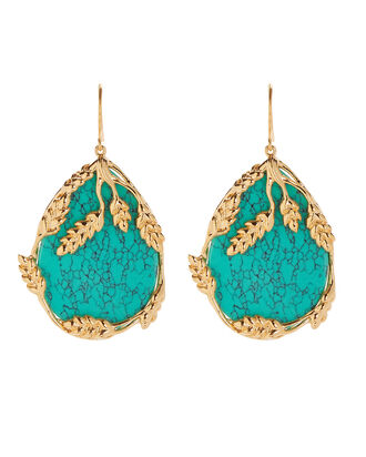 Françoise Turquoise Earrings, TURQUOISE/GOLD, hi-res