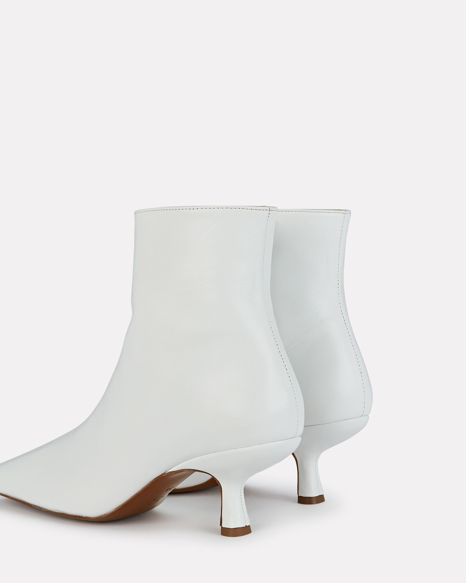 Lange Leather Ankle Boots, WHITE, hi-res
