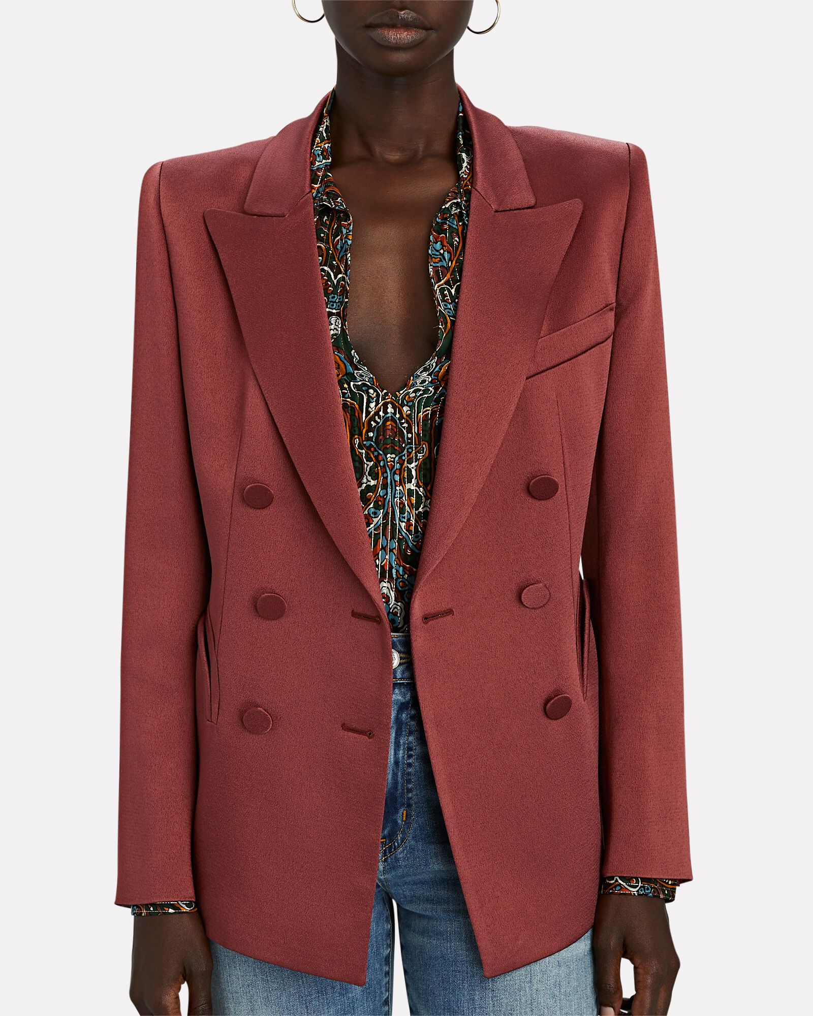 Novalis Charmer Double-Breasted Blazer, PINK, hi-res