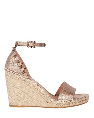 Rockstud Espadrille Wedges, GOLD, hi-res