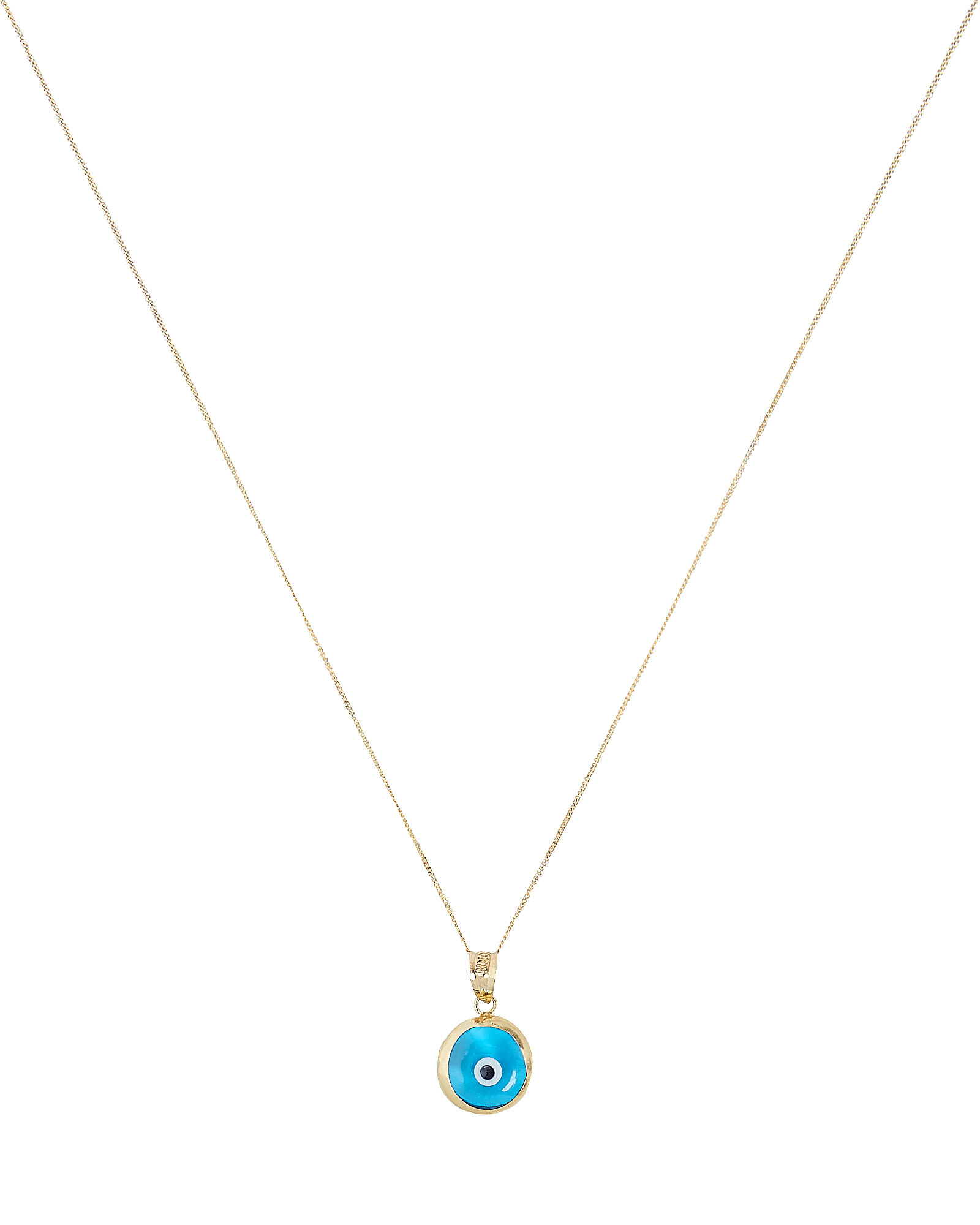 Evil Eye Pendant Necklace, GOLD, hi-res