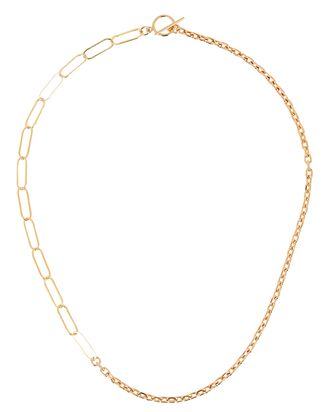 Marrakech Chain-Link Lariat Necklace, GOLD, hi-res