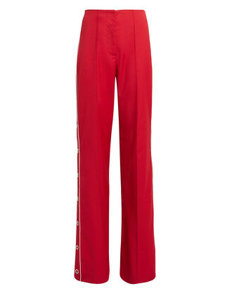 Ring Snap Wide Leg Pants, RED/WHITE, hi-res