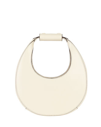 Mini Moon Leather Shoulder Bag, IVORY, hi-res