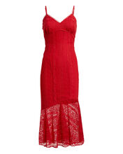Rouge Lure Lace Midi Dress, RUBY, hi-res