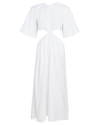 Milan Cotton Cut-Out Dress, WHITE, hi-res
