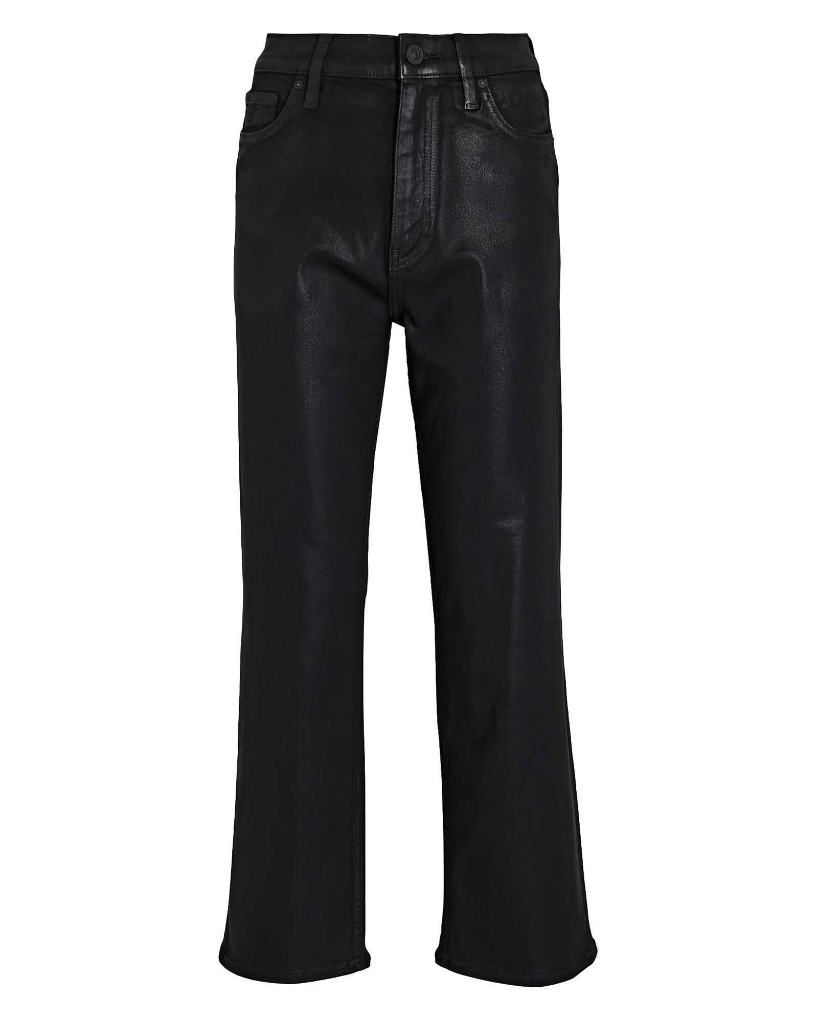Remi Coated Straight-Leg Crop Jeans, BLACK, hi-res