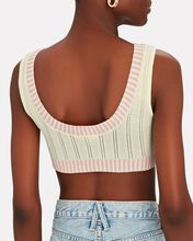 Rhea Pointelle Crop Top, YELLOW, hi-res