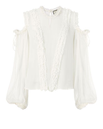 Belicia Blouse, WHITE, hi-res