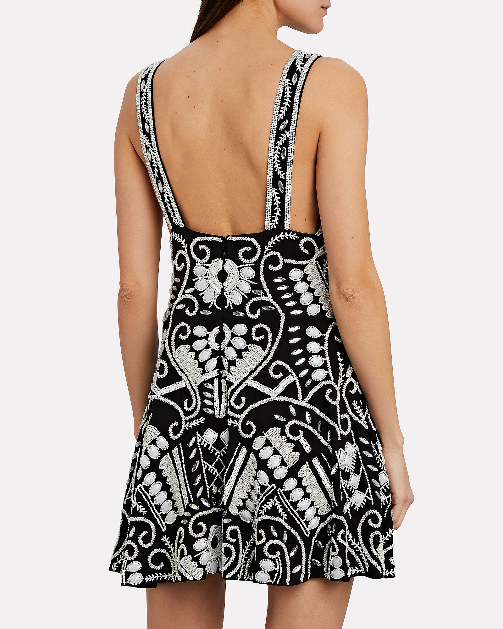 Jerza Beaded Mini Dress, BLK/WHT, hi-res