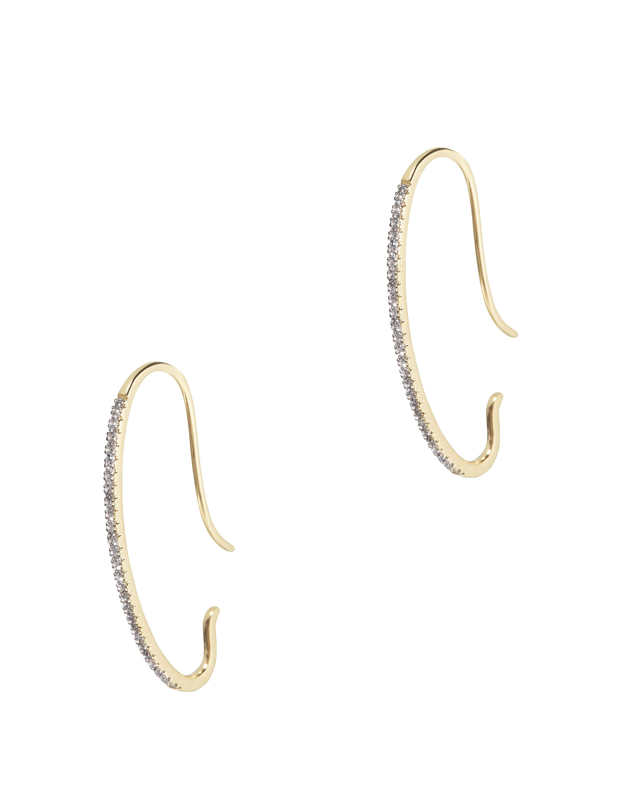 Gossamer Diamond Earrings, GOLD, hi-res