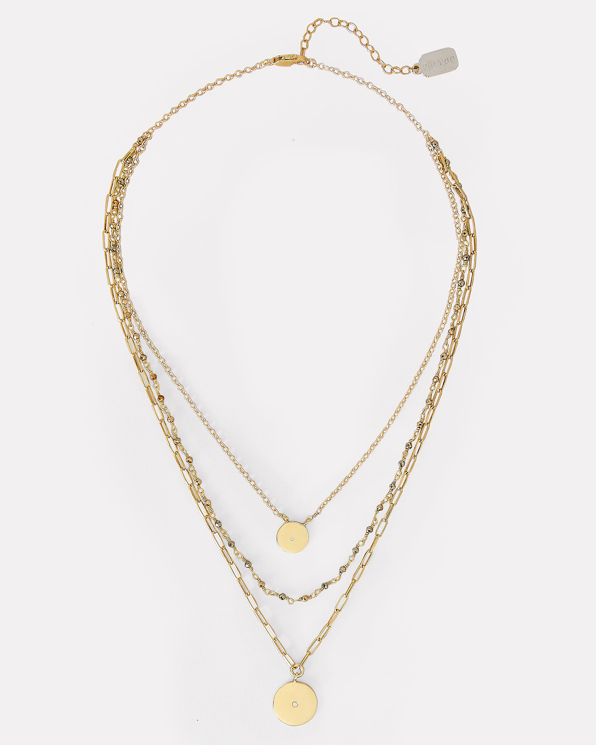 Three Layer Necklace, GOLD, hi-res