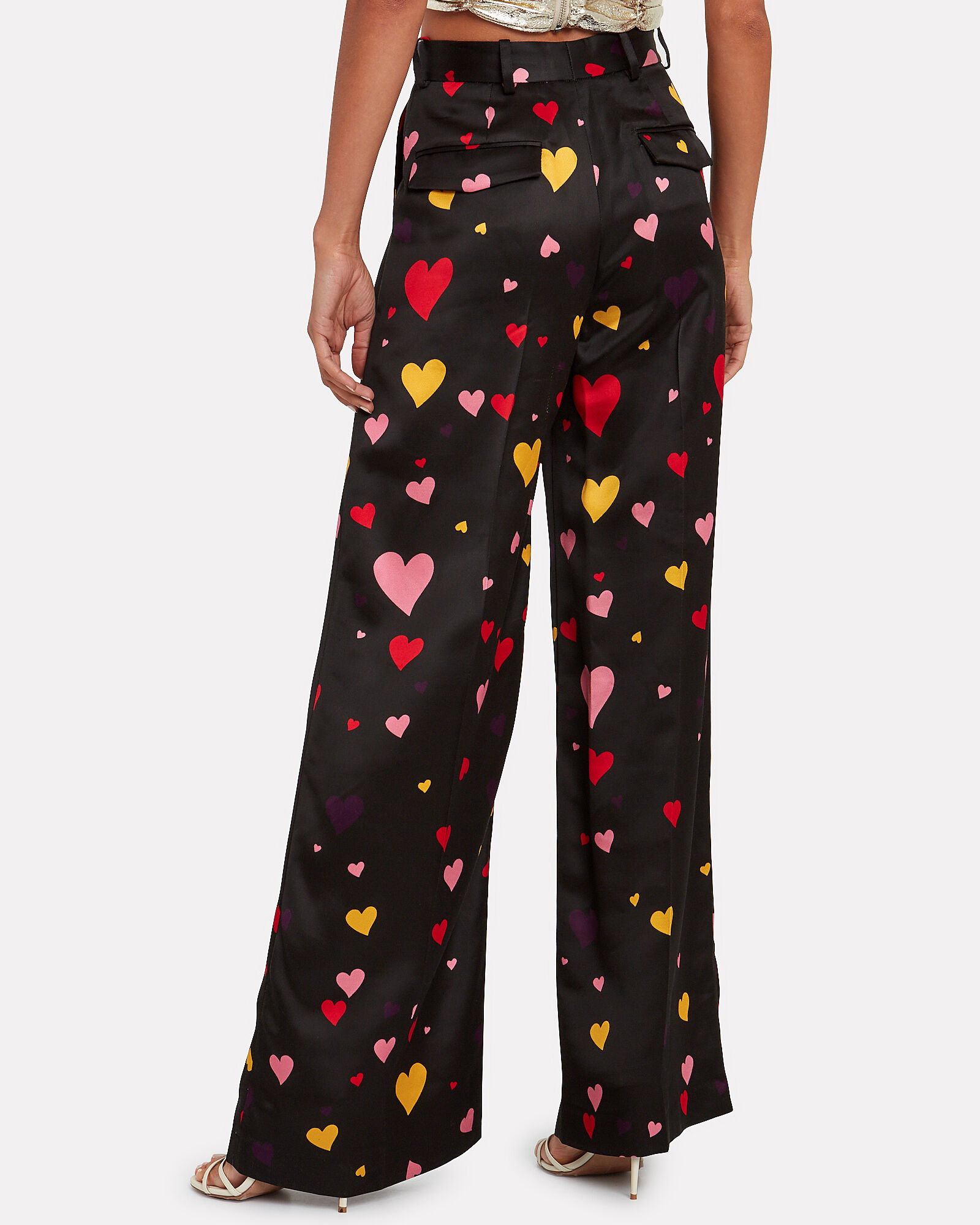 Peter Twill Palazzo Trousers, MULTI, hi-res