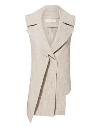 Layered Tweed Vest, BEIGE, hi-res