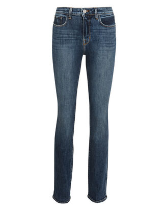 Melody High-Rise Straight Jeans, MEDIUM INDIGO BLUE DENIM, hi-res