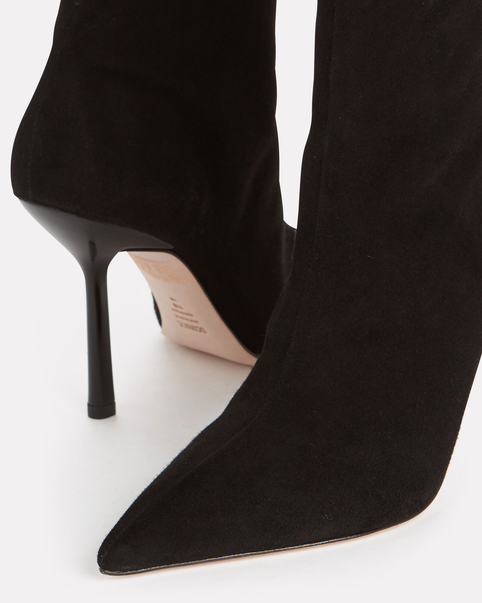 Keidy Suede Ankle Booties, BLACK, hi-res