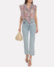 Unbridled Frill Top, LIGHT PAISLEY, hi-res