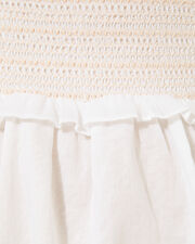 Leora Off Shoulder Smocked Dress, WHITE, hi-res
