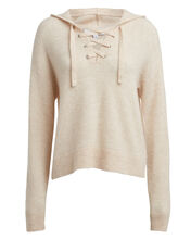 Sachi Hooded Wool-Blend Sweater, BEIGE, hi-res