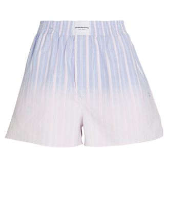Ombré Striped Cotton Boxer Shorts, BLUE/PINK, hi-res