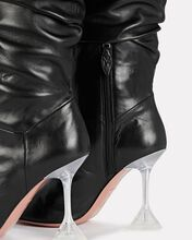 Olivia Glass Tall Leather Boots, BLACK, hi-res