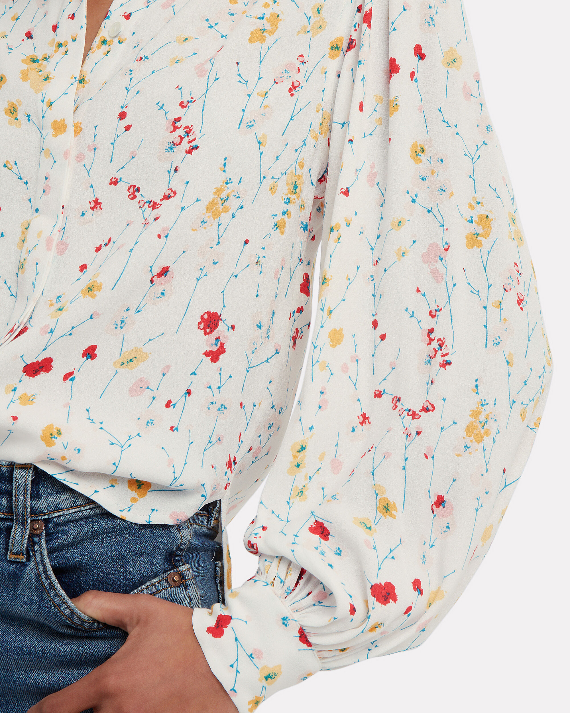 Marcilly Blouse, WHITE/FLORAL, hi-res