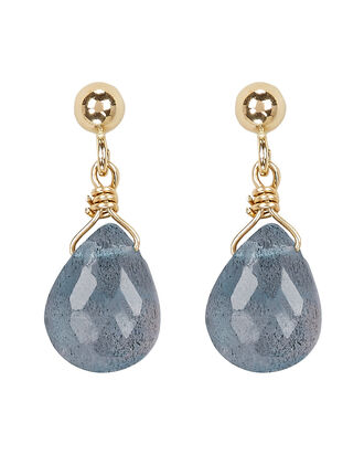 Labradorite Drop Earrings, GREY/GOLD, hi-res