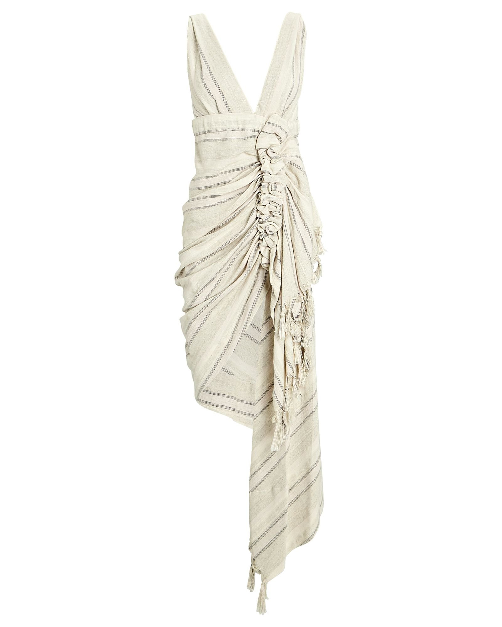 Tulum Ruched High-Low Dress, IVORY, hi-res